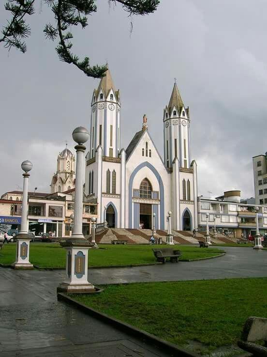 Santa Rosa de Cabal Church. Antioquia, Colombia.