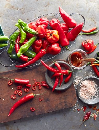 All About Chiles Williams Sonoma Taste Stuffed Peppers Hot Pepper Recipes Food Photography