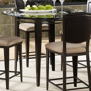 Merveilleux Round Glass Top Counter Height Dining Table