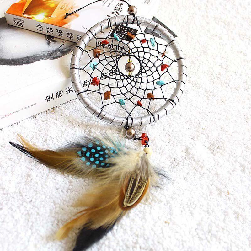 Cheap Dream Catchers Indian Style Silver Dream Catcher Feathers Core Bead Dreamcatcher