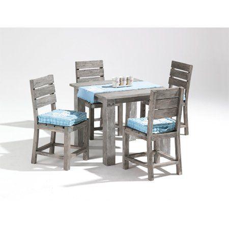 5tlg Sitzgruppe Strandgut07 Tisch Ca 90 X 90 Cm Outdoor