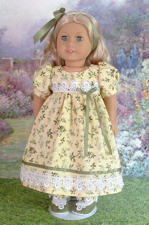 Maize and Roses Day Dress for Caroline by MyGirlClothingCoHeir, $65.00