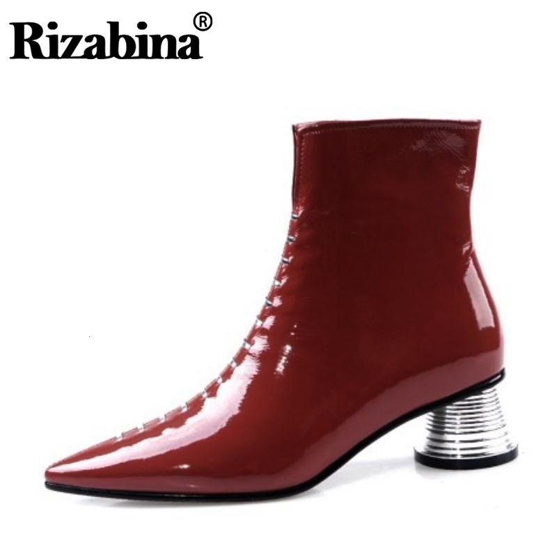 Ankle Boots For Women Real Cow Leather Brand Designer Shoes Women Winter Fashion Pointed To