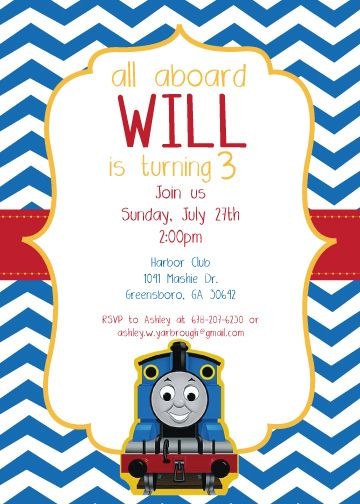 Printable Thomas The Train Chevron Birthday Invitations If You Have Trouble Finding This Listing Feel Free To Email Me Directly At Princesalanaaol