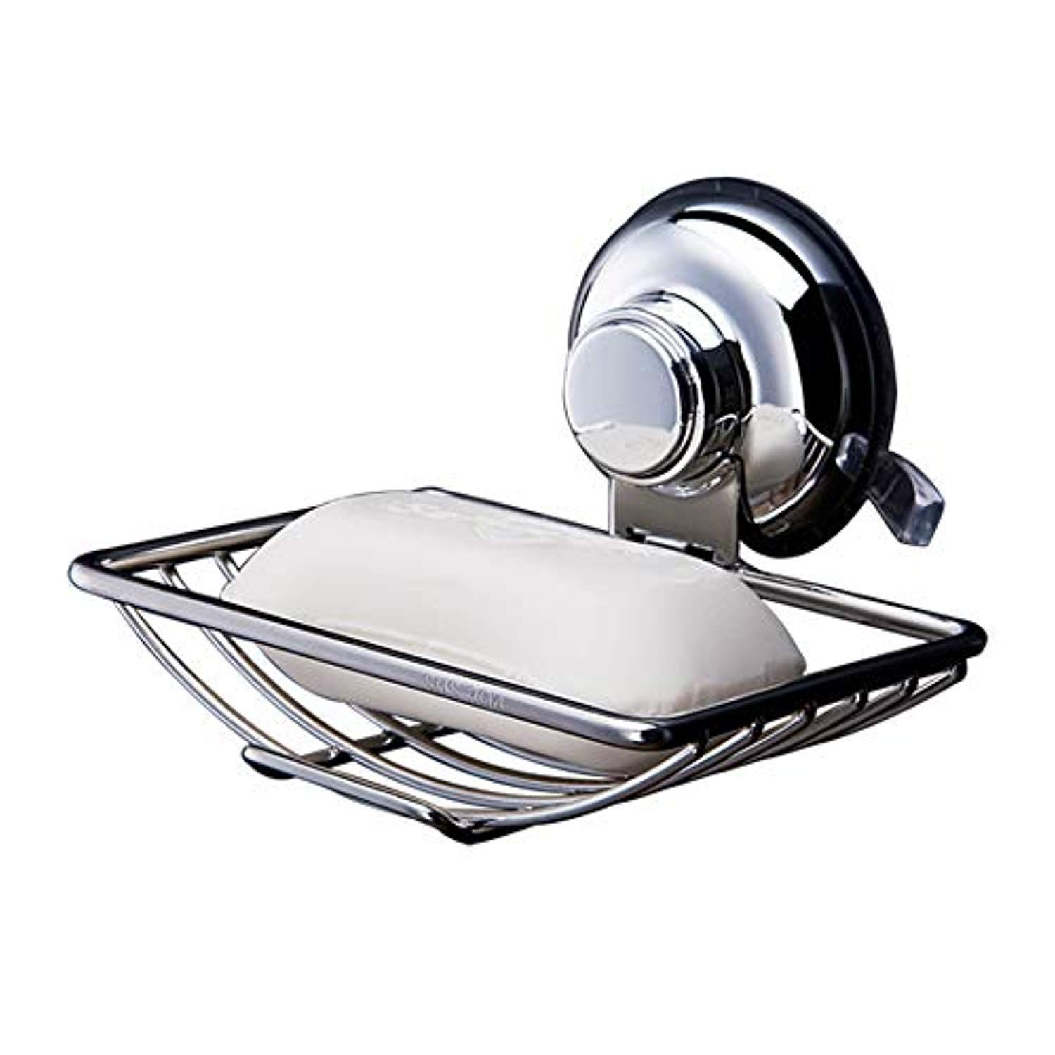 Joyeveri Suction Cup Shower Soap Dish Stainless Steel Soap Holder Wall Mounted Soap Rack Suction Soap Tray For Bathroom And K Bathroom Tray Soap Tray Dish Soap