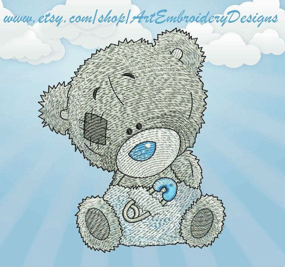 "Teddy Pin - Machine Embroidery Designs Set for a Babies and Children of a series ""Old Toy"""