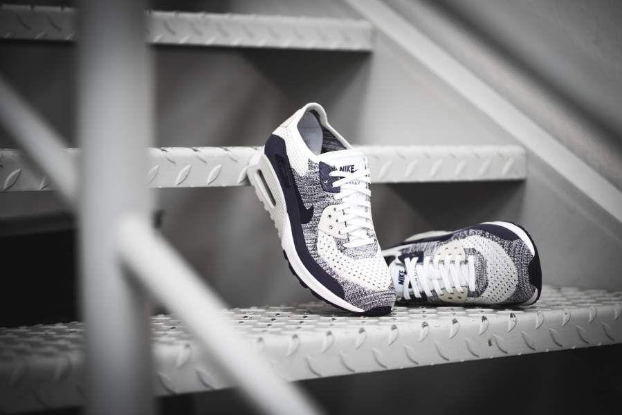 new concept fb62b f54d6 Nike - WMNS Air Max 90 Flyknit Ultra 2.0 (lila   weiß) - 881109