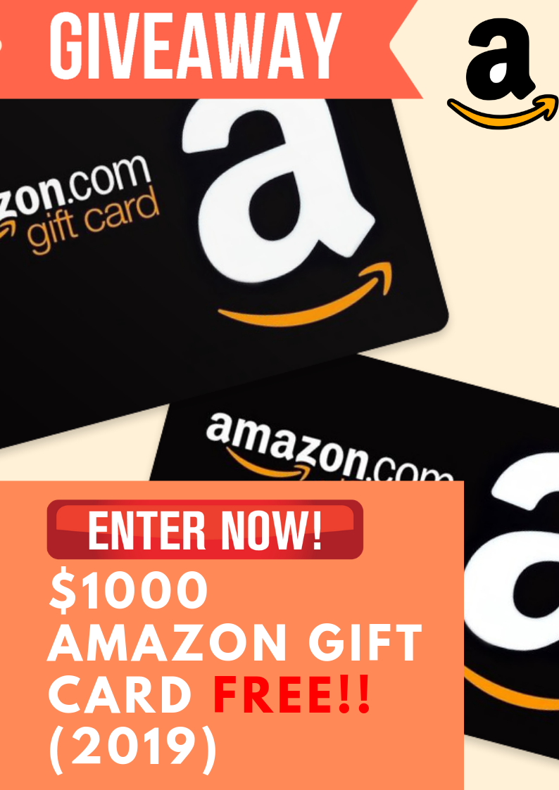 We Are Giving Away A 1000 Amazon Gift Card To 1000 Lucky Winners On 2019 Amazongiftcard Amazong In 2020 Amazon Gift Card Free Amazon Gift Cards Mcdonalds Gift Card