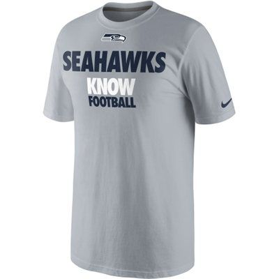 Mens Seattle Seahawks College Navy Line to Gain II T-Shirt