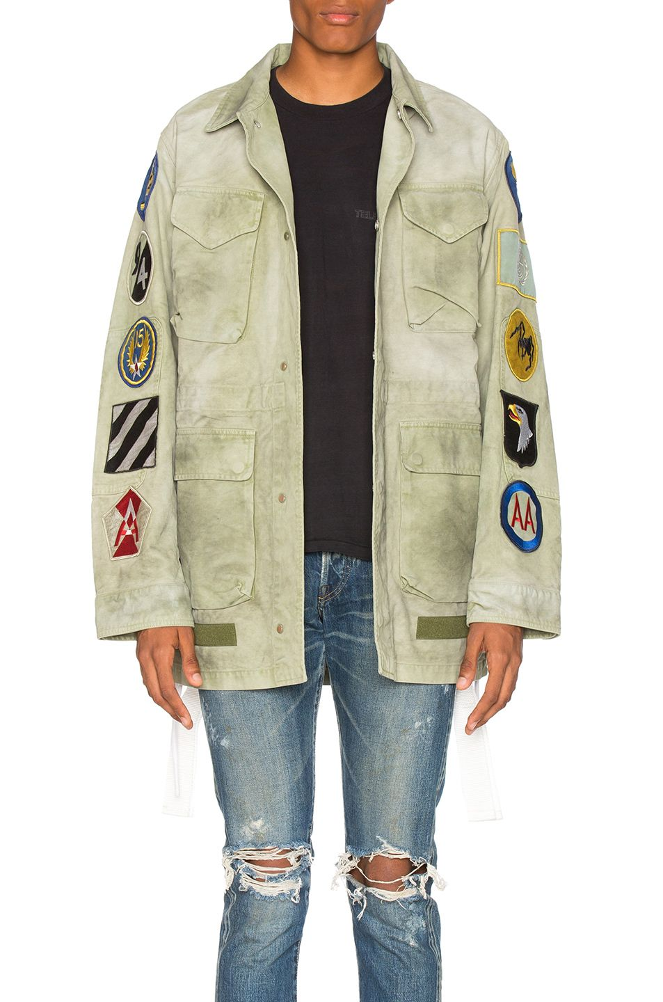 9d16b868e267 OFF-WHITE Patches Field Jacket.  off-white  cloth