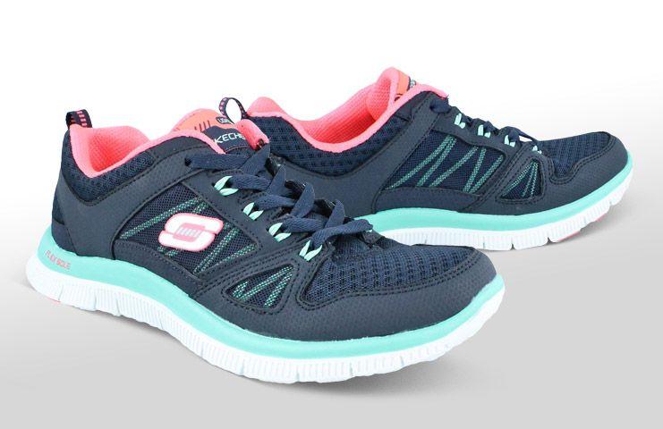 Womens Skechers Adaptable Laceup Memory Foam Sneaker Skechers