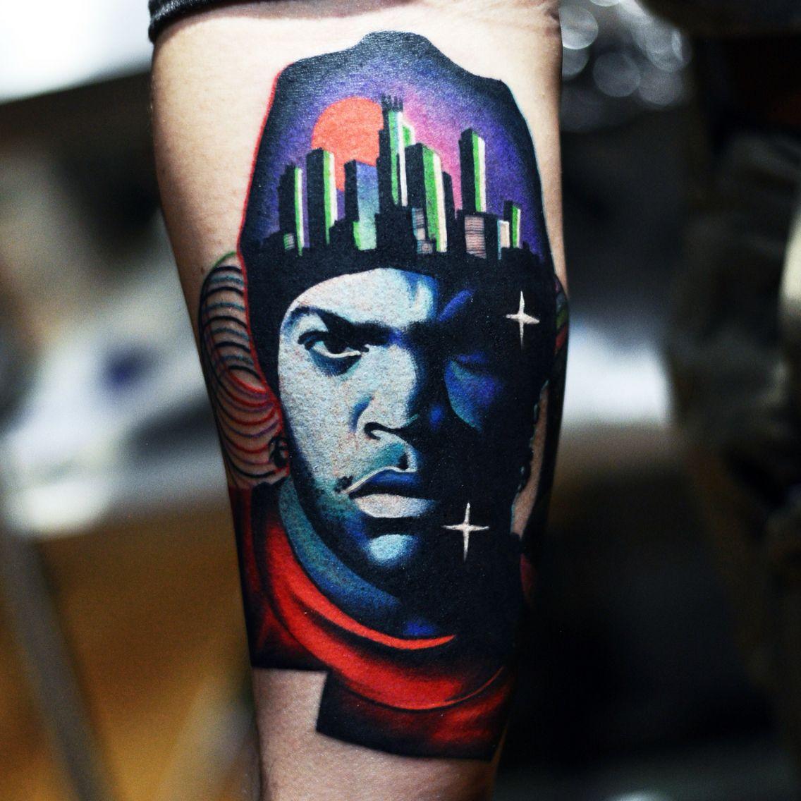 Ice cube tattoo by david cote tattoo art pinterest for East coast tattoo body piercing