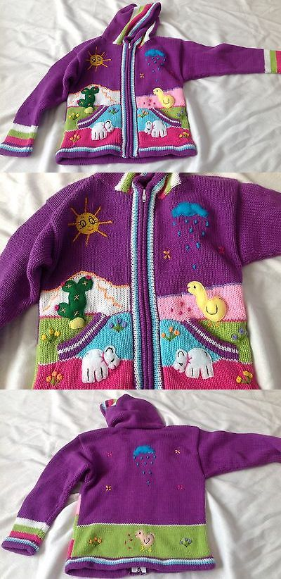 672bb7d0edaf7 Sweaters 175657  Hand Knitted Alpaca Wool Children Sweaters With 3D Designs  -  BUY IT NOW ONLY   34.98 on eBay!