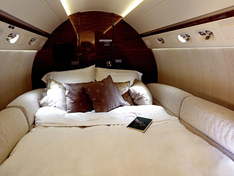 Dreaming sweetly on a G550. Gulfstream aerospace
