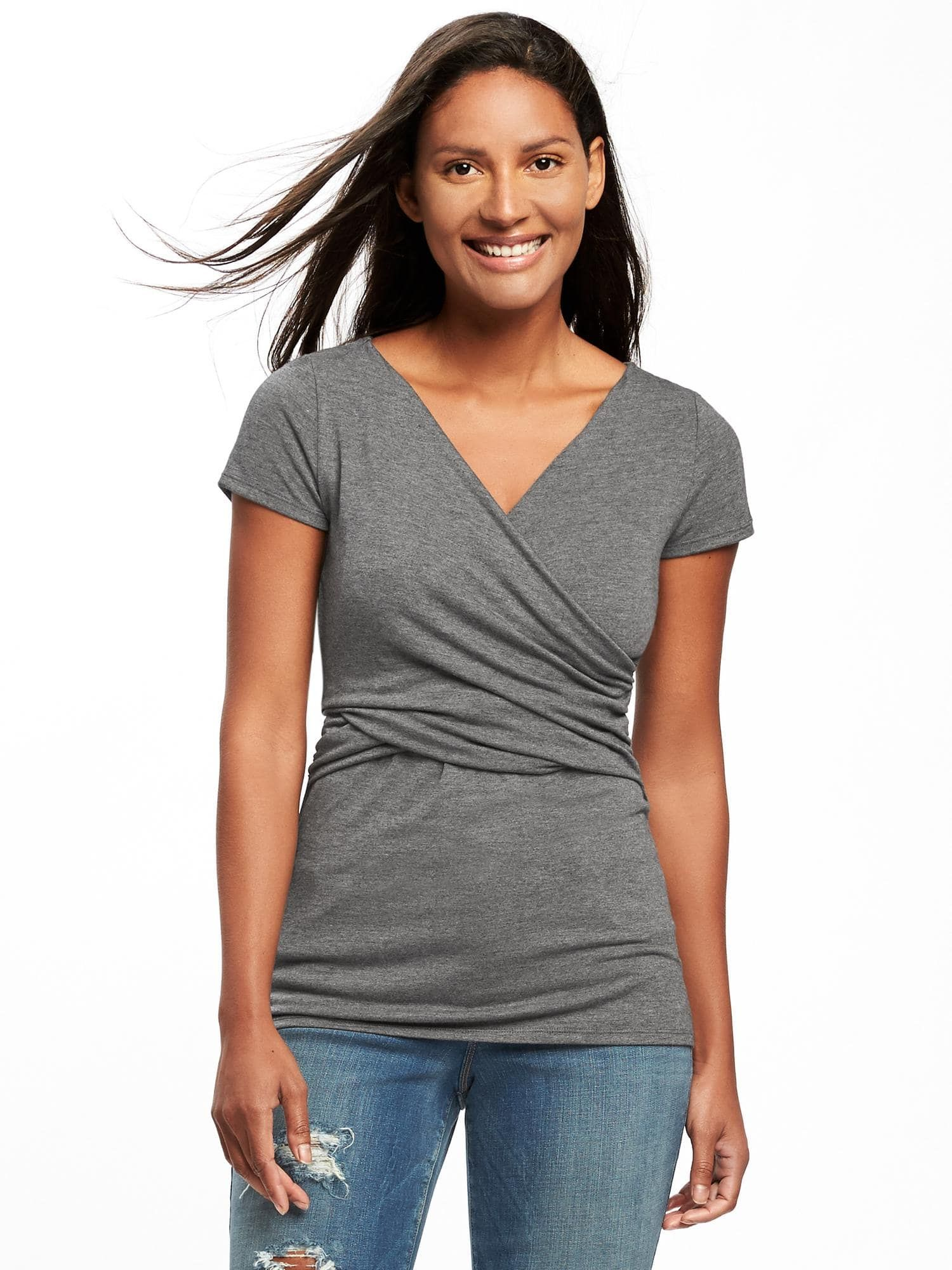 7258fd203d8ce Maternity Jersey Wrap-Front Nursing Top | Old Navy | Things I Need ...
