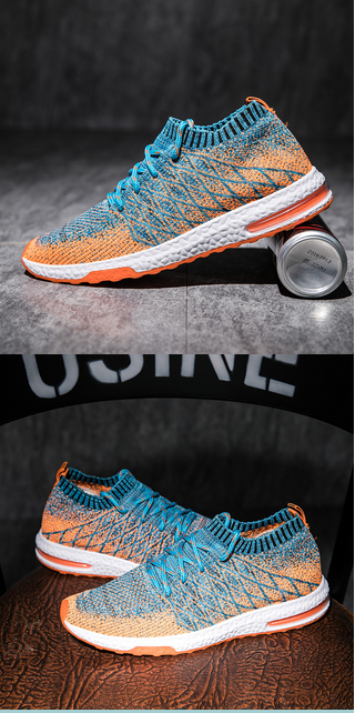 8a51f5cef Running Shoes Men Trainers Breathable Men Gym Shoes 2016 Summer Boys  Athletic Shoes Gray Orange Mens Designer Sneakers  sneakers  gym  mensshoes  ...