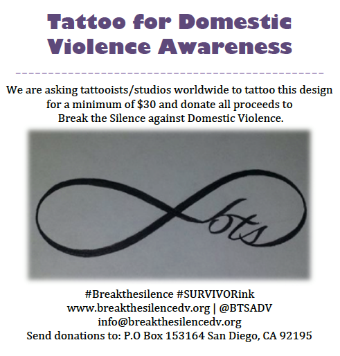 Tattoo For Domestic Violence Awareness. Break The Silence