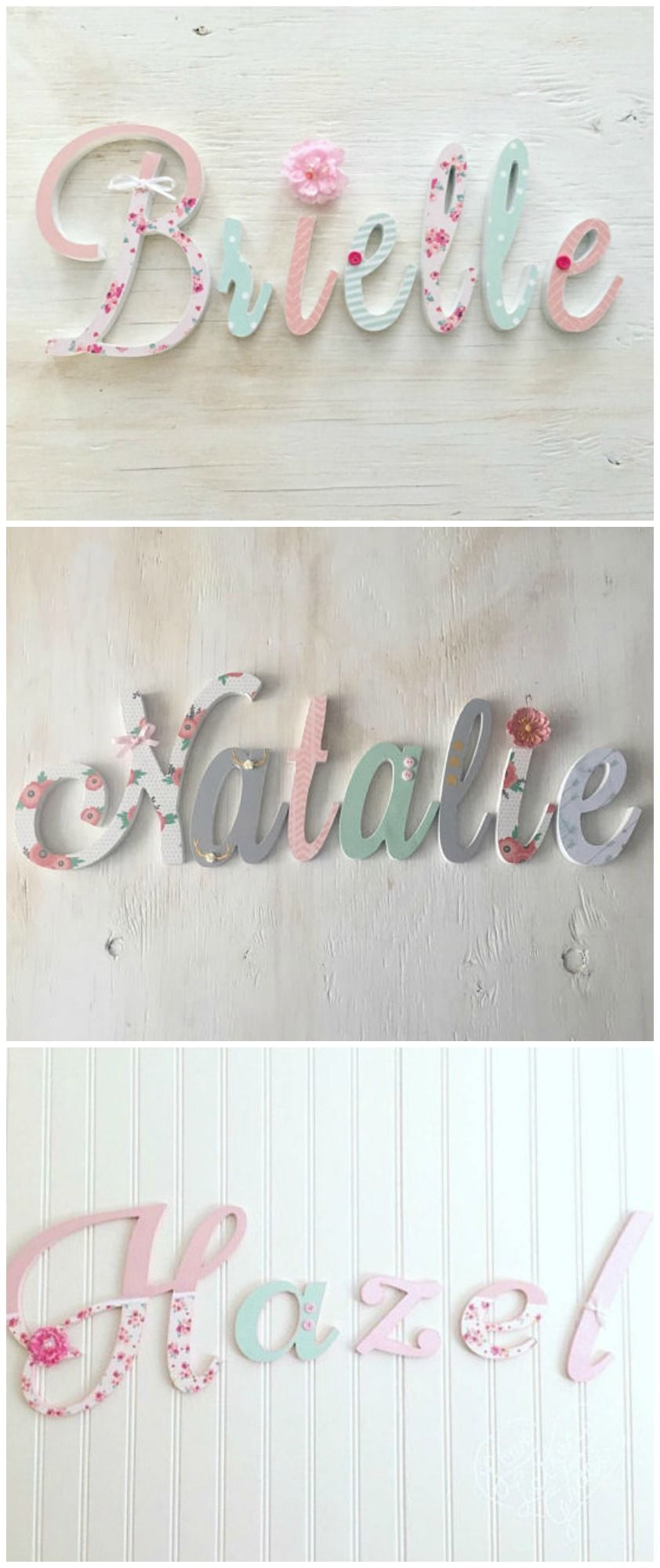 Baby Nursery Decor Name Letters S Bedroom