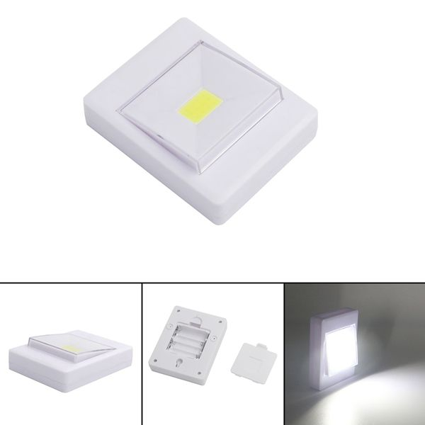 Mini Cob Led Wall Switch Night Light For Closet Magnetic Battery Operated Camping Emergency Lamp