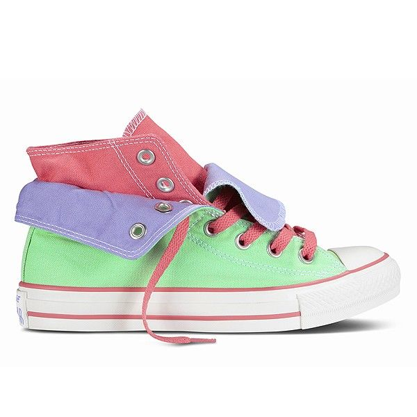 Converse Chuck Hi Green/Purple/Pink