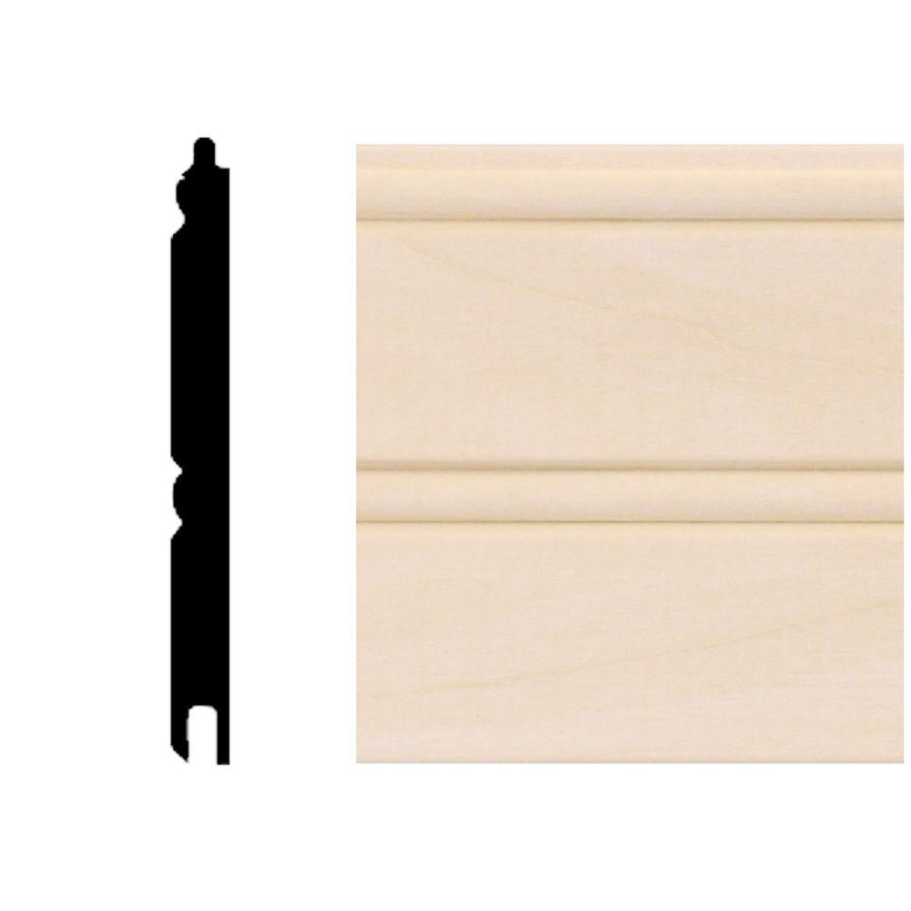House Of Fara 0 67 Sq Ft Basswood Tongue And Groove Wainscot Paneling In 2019 Wainscoting Wainscoting Panels Tongue Groove