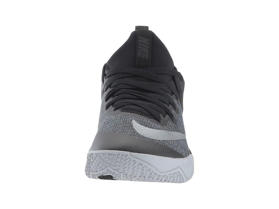 46b3c5a9435c Nike Zoom Shift Women s Basketball Shoes Black Chrome Wolf Grey ...