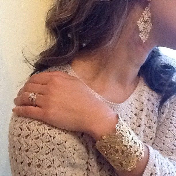 Chantilly Lace Cuff And Earrings By Stella Dot