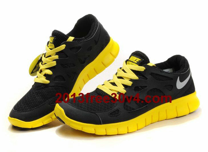 sports shoes 12ac5 e1d60 EJ6578 Mens Nike Free Run 2 Black Lime Yellow  Black  Womens  Sneakers