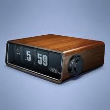 Pre Digital Alarm Clock The Numbers Would Flip Or Roll As The