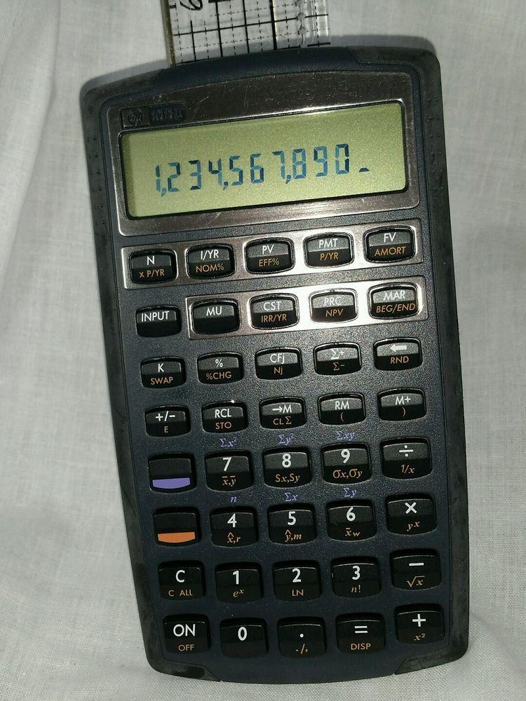 Financial Calculator Online >> Hp 10bii Financial Calculator Hewlett Packard College