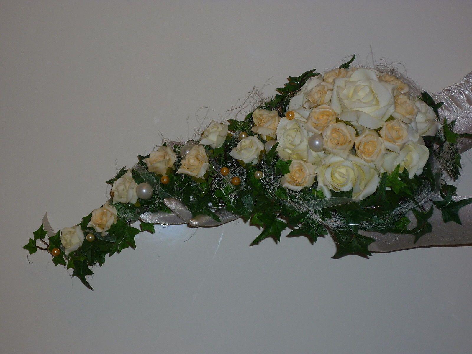 NEU BRAUTSTRAUSS edel abflieend apricot creme  HOCHZEIT  Wasserfall  eBay  Wedding