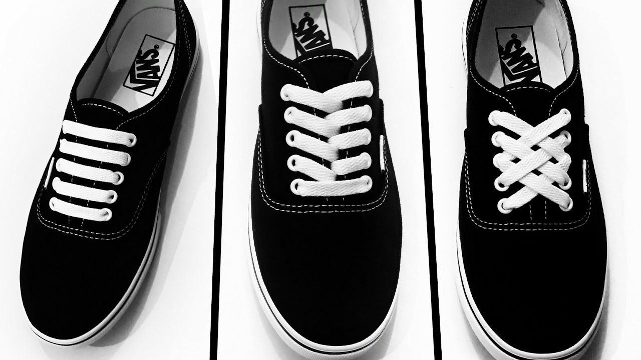 3 Creative Ways To Lace Your Shoes  canvas vans and