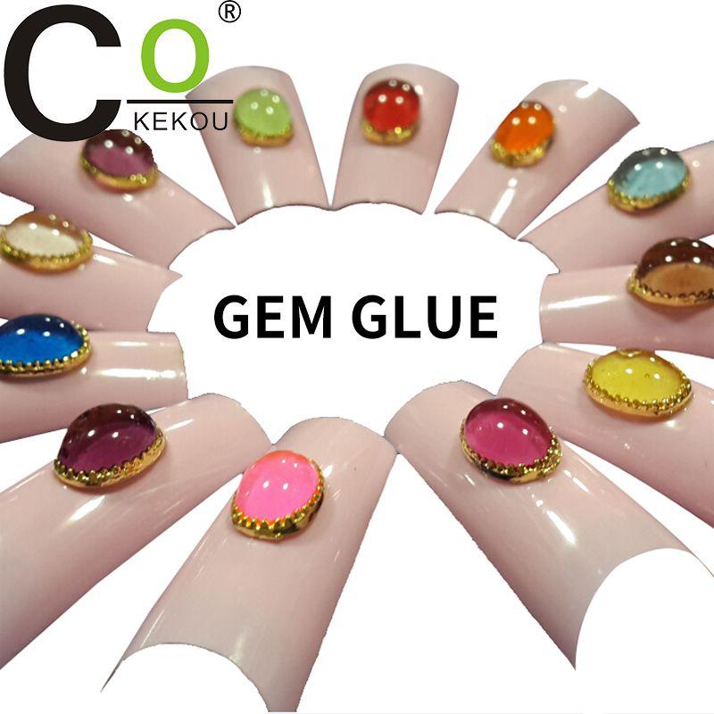 CoKEKOU Manicure removable adhesive gel glass gel extend ...