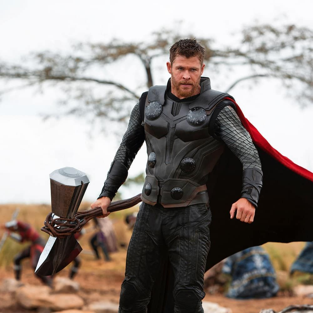 Avengersinfinitywar Set Picture Thor With The Stormbreaker Thegeekpower Follow For More The Geek Power Marvel Thor Thor Comic Thor Wallpaper