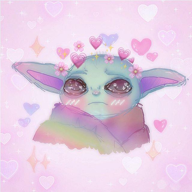 Babyyoda Hashtag On Instagram Photos And Videos Yoda Wallpaper Cute Drawings Valentines Art