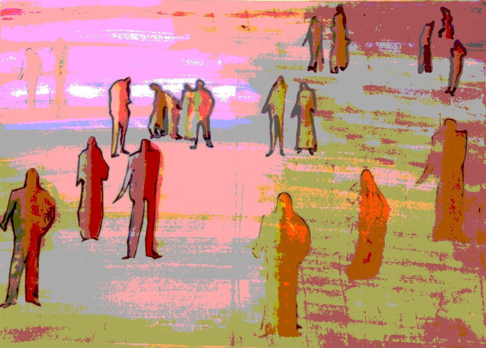ABK MORTSEL - bewerkte foto van tekening, werk van anoek