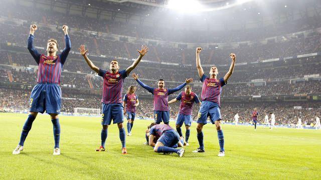 Barcelona wins against Madrid's El Classico!  Lo sabia! Visca el Barsa!