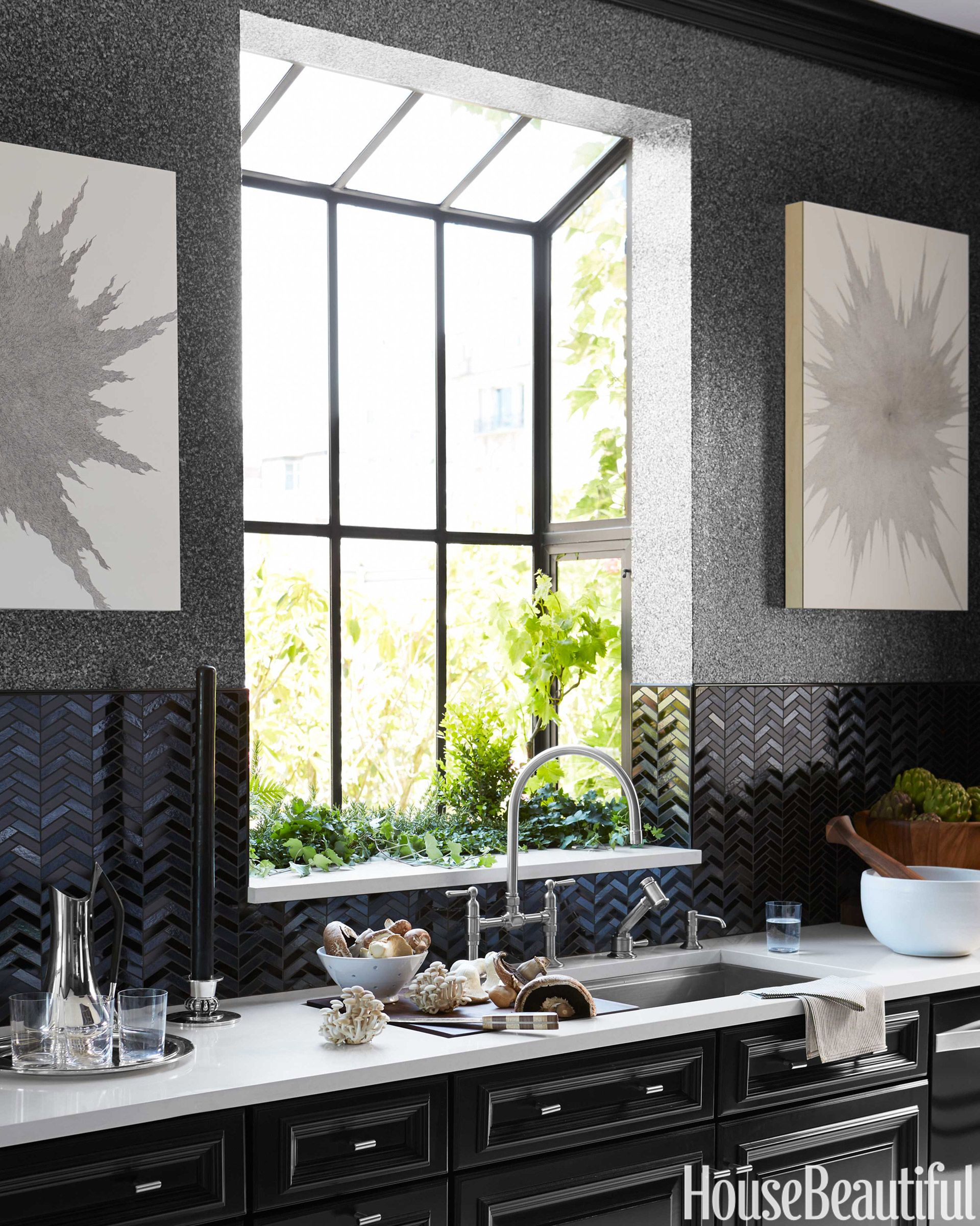 The Stages Sink Is Paired With A Hi Rise Bridge Faucet Both By Kohler Artworks Jenifer Kent James Baigrie Housebeautiful