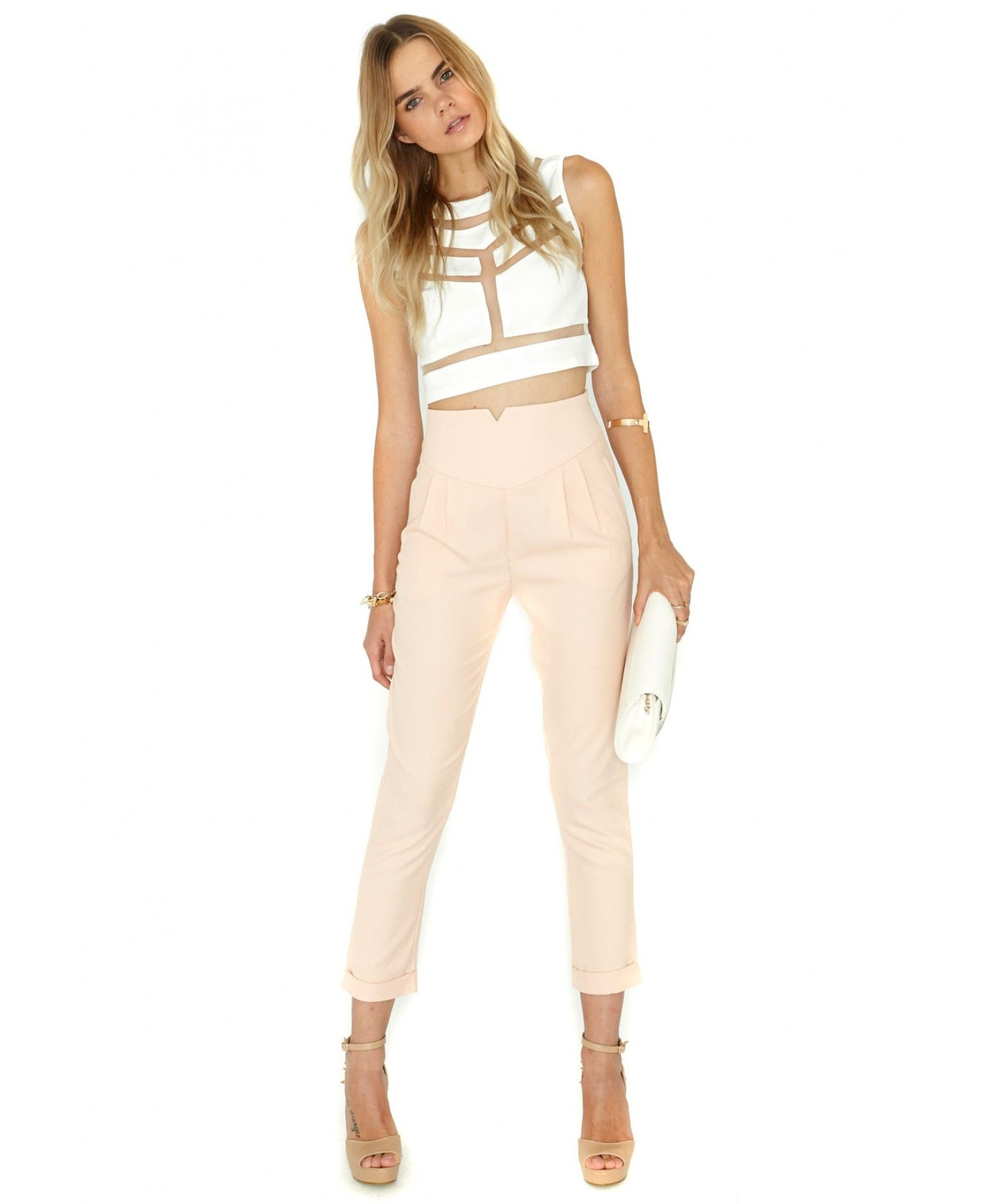 MISSGUIDED - Marilyn Cigarette Trousers In Blush - 30.47 €