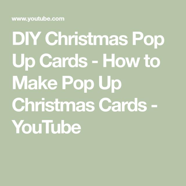 DIY Christmas Pop Up Cards - How to Make Pop Up Christmas Cards