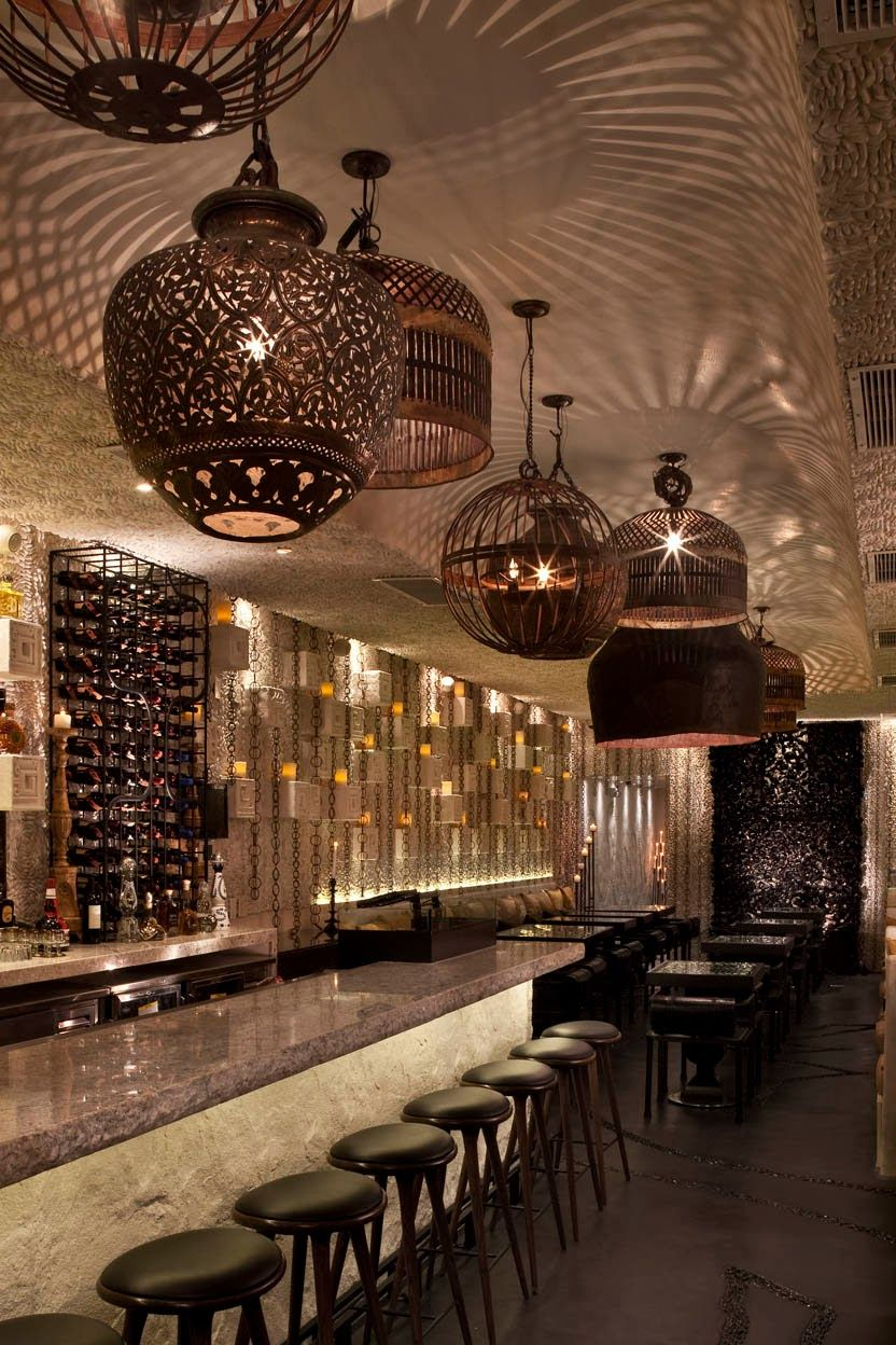 restaurant lighting ideas. Mix Of Lighting Shapes - Shadows On Ceiling Palmilla Restaurant, Hermosa Beach, California By G+Design Restaurant Ideas N