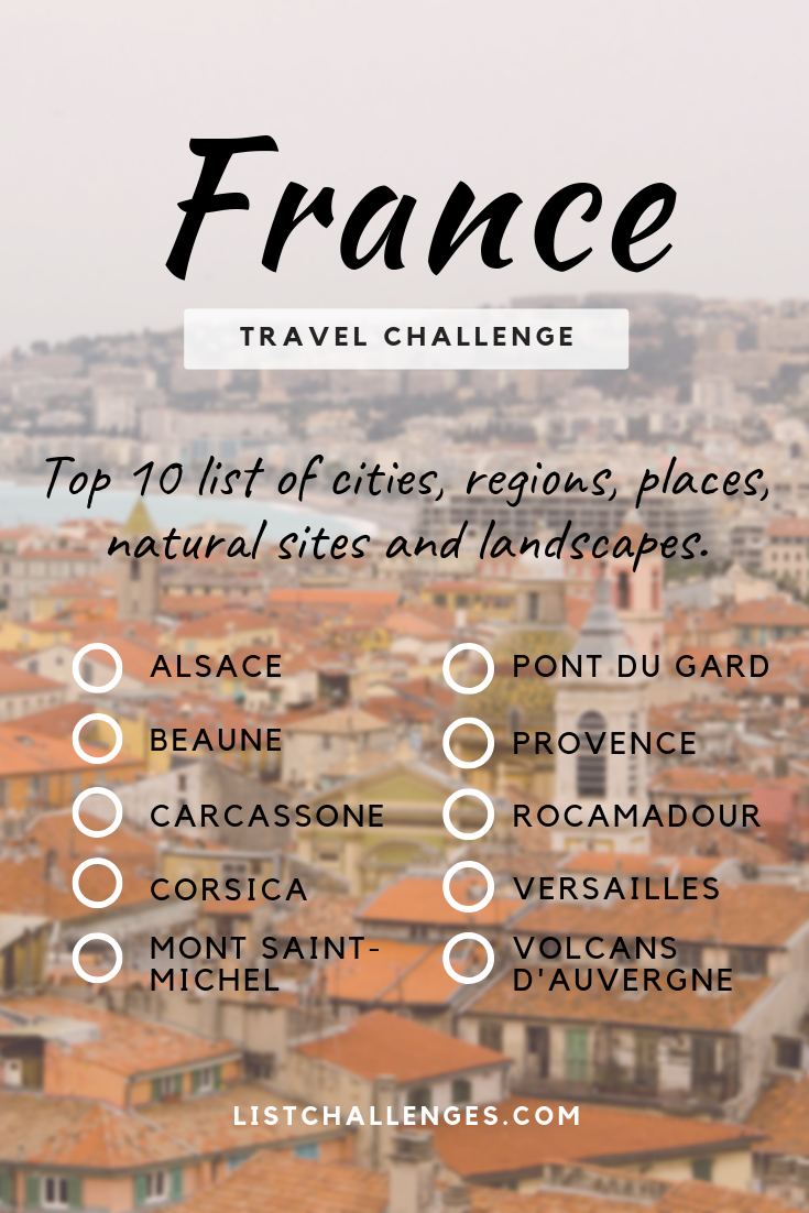 TOP 10 Travel List  France  How many have you visited   is part of Top  Travel List France How Many Have You Visited - This is my TOP 10 list of cities, regions, places, natural sites and landscapes I want to visit in France