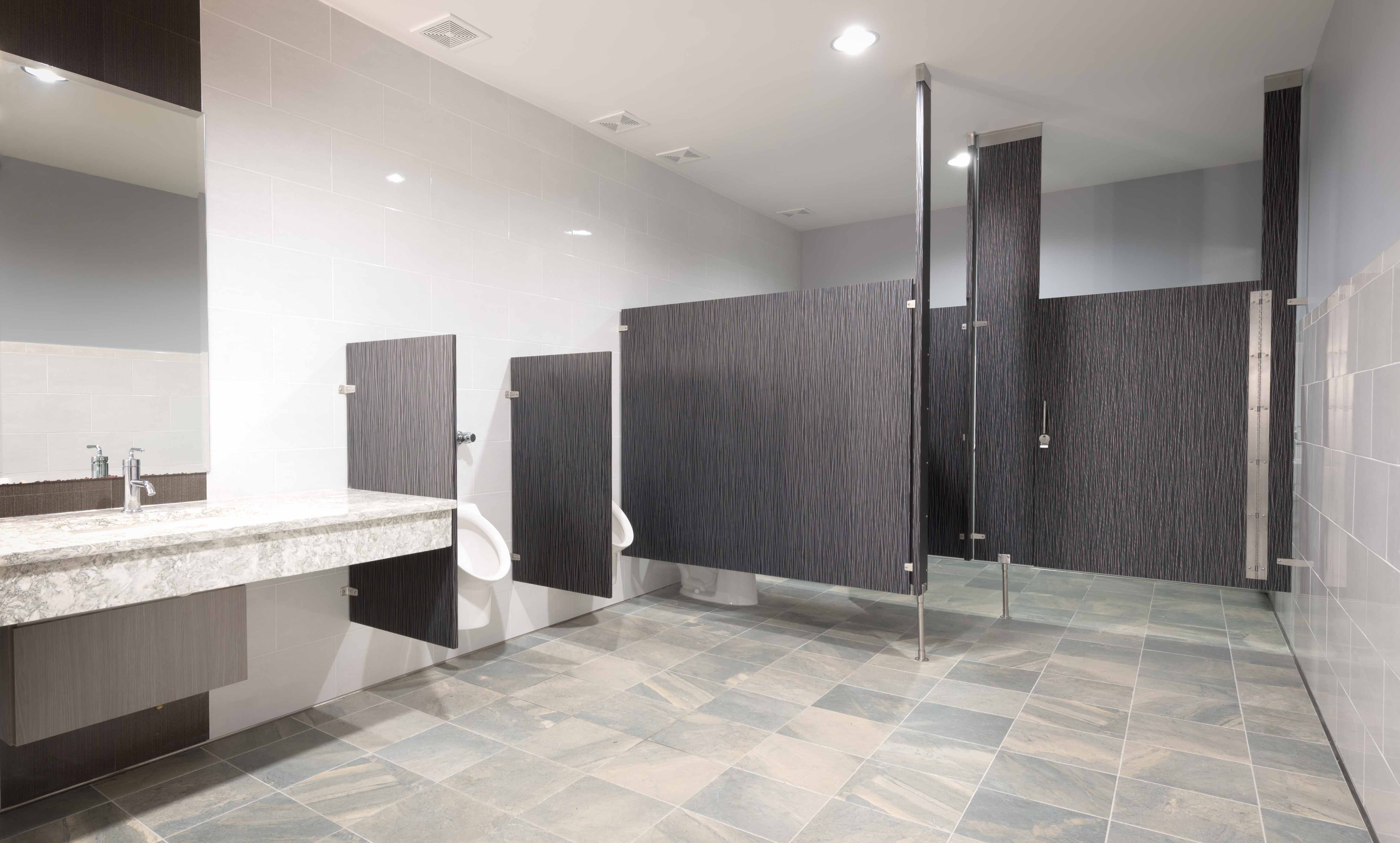 Ironwood Manufacturing Laminate Toilet Partitions And Bathroom Doors Beautiful Upscale Public Restroom Par Public Restroom Design Restroom Design Room Doors