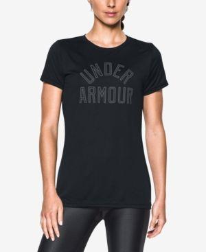 Under Armour Ua Tech Logo T-Shirt - Black XS