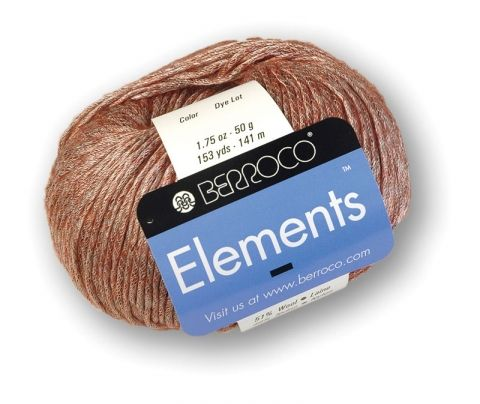 Elements is a fantastic year-round garment yarn. A wool and nylon blend that is spun with a mesh wrap, it is lightweight and breathable, and features a slight halo of shimmering color. This yarn adds a subtle elegance to any project.