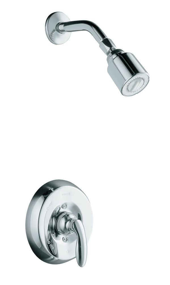 Coralais Mixing Valve Shower Faucet In Polished Chrome Shower