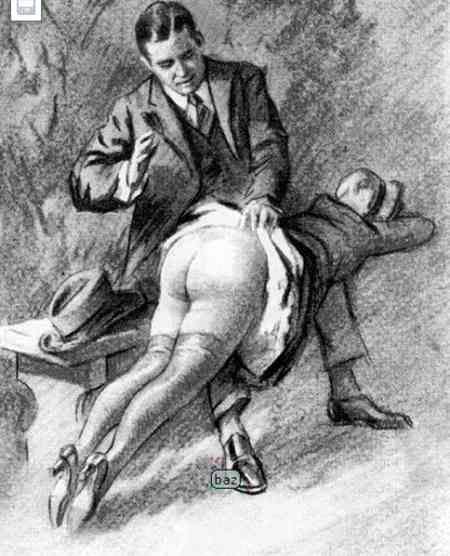 Man cane spank