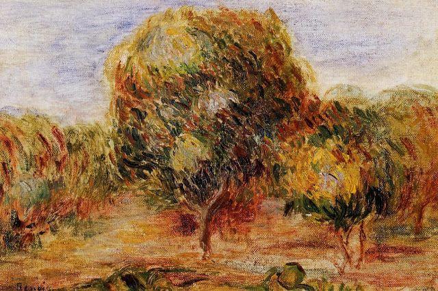 Pierre Auguste Renoir (1841-1919) - Cagnes Landscape - 1907-08c -  Private Collection