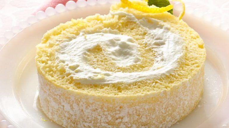 Zitronen Biskuitrolle #löffelbiskuitrezept