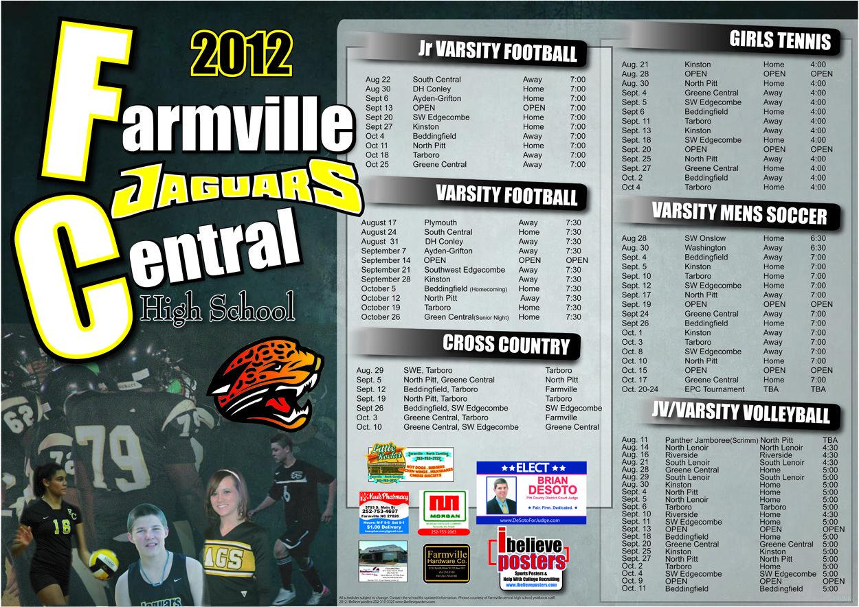 Farmville central football 2012 sport poster football